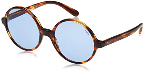 Polo Ralph Lauren Damen 0PH4136 Sonnenbrille, Braun (Striped Havana), 55