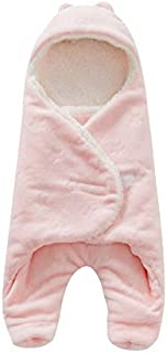 HBK Baby Sleeping Bag 6880cm Coral Fleece Baby Swaddle Blanket Winter Footmuff Saco Bebe Cochecito Dormir Sac De Couchage Enfant