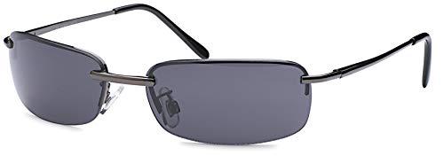 Balinco High Quality Rechteckige Herren Sonnenbrille mit Federscharnier Sunglasses Sportbrille Matrix Rad Brille Radbrille Sport (Smoke)
