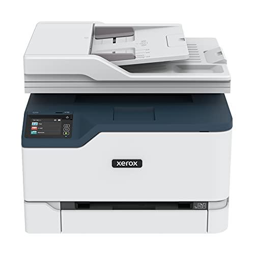 Xerox C235 Multifunzione Laser A4 Colore - Copia/Stampa/Scansione/Fax, 22ppm, Wireless con Stampa Fronte Retro, Pannello Touch a Colore, White/Blue