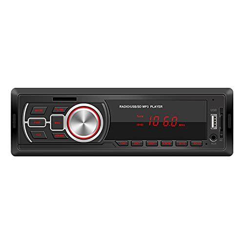Mothcattl 5209E Estéreo para Automóvil con Bluetooth, Control Remoto Manos Libres Radio FM Audio MP3 Automóvil 12 V Aleatorio