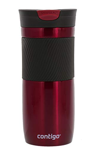 Contigo Byron SnapSeal Insulated Travel Mug, 20 oz | Leak-Proof Stainless Steel Travel Mugs | Vivacious