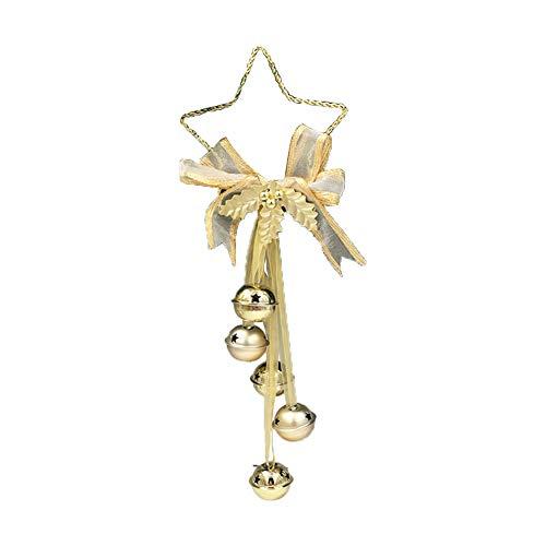 Haodou Navidad Cascabeles Colgantes Puerta Colgante Bells Decoración Adornos Navidad Árboles Pentagonal Estrella...