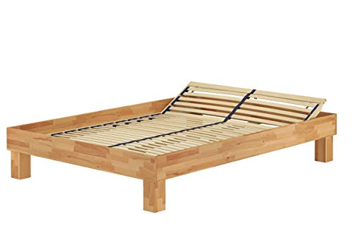 Erst-Holz® Französisches Bett Doppelbett 140x200 Buche geölt Futon mit Lattenrost 60.87-14 FV