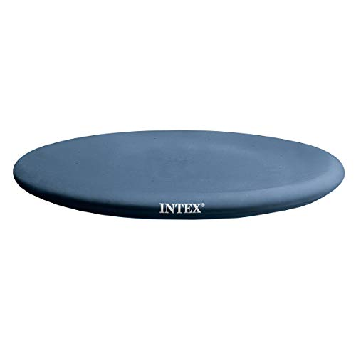 Intex N/AA 13' x 12' Easy Set Above Ground Rope Tie PVC Vinyl Pool Cover |, 1 Pack, Blue