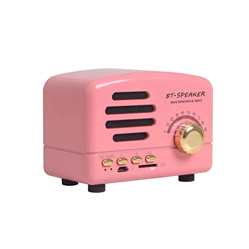 Mini Vintage Radio, Portable Retro AM FM Support Card Receiver, Stereo Shortwave Pocket USB Bluetooth Speaker with Rechargeable Battery | Home Office Use