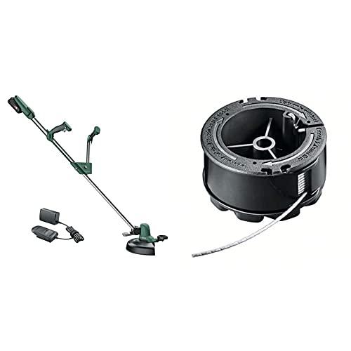 Bosch Tagliabordi a Batteria UniversalGrassCut 18-260 (1 Batteria, Sistema a 18 Volt, Impugnature Regolabili,  di Taglio: 26 cm) + Bosch Bobina di filo per tagliabordi UniversalGrassCut