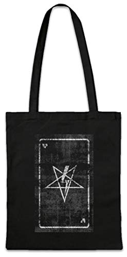 Urban Backwoods Tarot The Black Pope Boodschappentas Schoudertas Shopping Bag