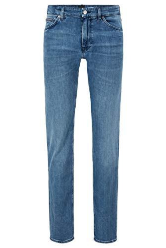BOSS Herren Maine3 Blaue Regular-Fit Jeans aus besonders softem Denim