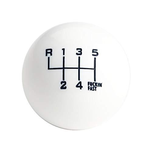 DEWHEL White/Black Fing Fast Shift Knob for 6 Speed Short Throw Shifter 12X1.25 10X1.5 10X1.25 8X1.25