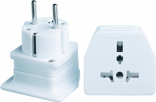 Go Travel European Visitor Type B Type C (Europlug) Blanc Adaptateur Prise d'alimentation - Adaptateurs Prises d'alimentation (56 mm, 51 mm, 66 mm)