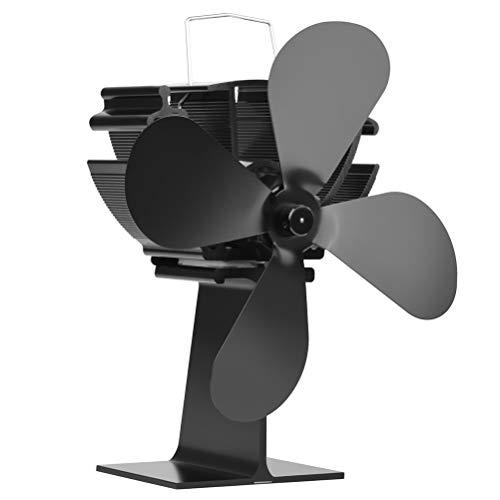 Heylas kachelventilator, thermo-elektrisch, stroomloze ventilator voor open haard, houtkachels, kachels, ventilator met 4 blaadjes