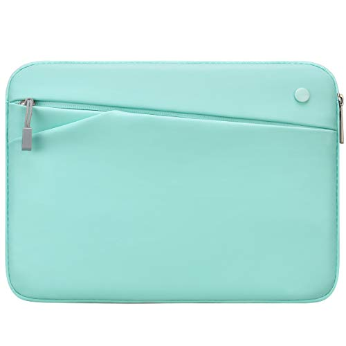 Feacan 11 inch Tablet Sleeve for 2020 New iPad Pro 11-inch / 10.2 New iPad 2019/10.5 iPad Air / 10.5 iPad Pro / 9.7' New iPad/iPad Air 2 Case Bag, fit Apple Pencil Smart Keyboard Cable, Mint Green