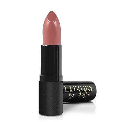 All Natural Lipstick, Semi Matte Lip Color, Moisturizing Lipstick, Non Toxic, Non GMO, Highly Pigmented, Long Lasting Lipstick, Vegan Makeup for Women (Honor) - Luxury by Sofia