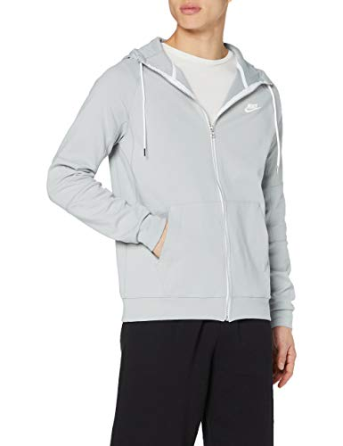 Nike Herren Hoodie mit Durchgehendem Reißverschluss Sportswear Modern, Light Smoke Grey/Ice Silver/White/White, M, CU4455-077