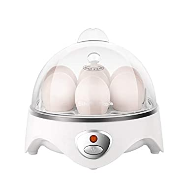 SimpleTaste Egg Cooker 7 Eggs Capacity Electric Egg Cooker for Hard or Soft Boiled Eggs, Poached Eggs or Omelets with Auto Shut Off Feature [Upgrade Version]
