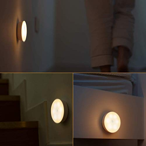 Sensor Night Light, Motion and Light Sensor LED Night Light Battery Operated, Adhesive Pads Stick-Anywhere, for Cupboard, Wardrobe, Shelf, Toilet, Stair