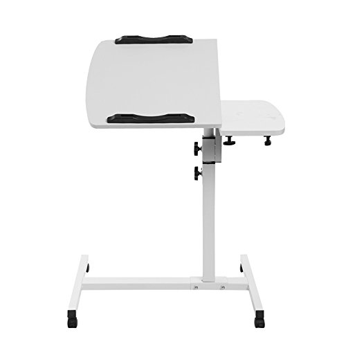 AllRight Laptop Tray Table Stand Laptop Table Adjustable Portable For Sofa Bed White