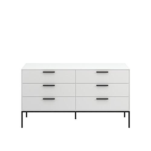 Steens Kommode Slimline, Schrank, Sideboard mit 6 Schubladen, (B/H/T) 130 x 70 x 40 cm, MDF, Weiß