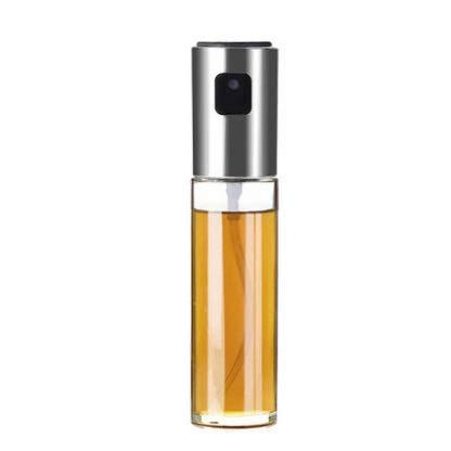 HUANGCHAO 3pcs Cocina Hornear Acero Inoxidable Aceite de Oliva Spray Aceite Vacía Botella Vinagre Botella Dispensador de Aceite de Cocinar Ensalada Bbq ABSglass