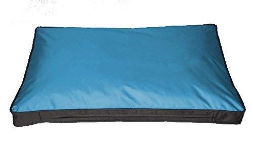 SAUERLAND Funda para cojín de Exterior para Perro, 120 x 80cm, Azul (sin Relleno) Impermeable, Funda de Repuesto, Funda para cojín