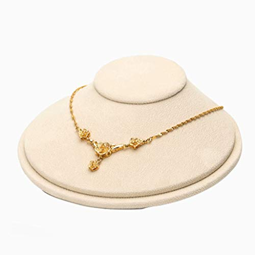 FSJD Estante de joyería Colgante de Collar Soporte de exhibición de joyería Modelo de Marco de exhibición de Collar Estante de joyería de marioneta, Beige, 17cm × 17cm × 7cm