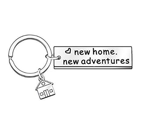 Regalo para el nuevo propietario de casa, regalo para el primer hogar nuevo hogar nuevo llavero de aventuras