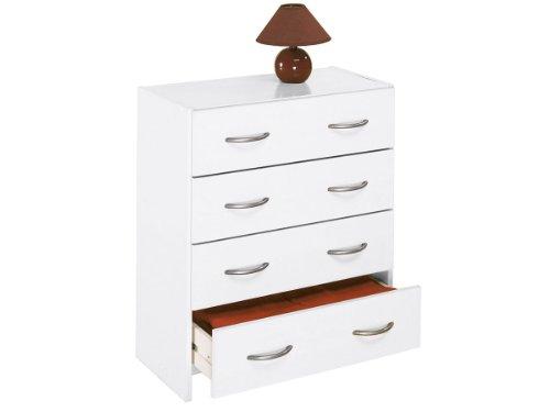 möbelando Kommode Schubladenkommode Schubladen Sideboard Anrichte Mehrzweckkommode Henry (Weiß)