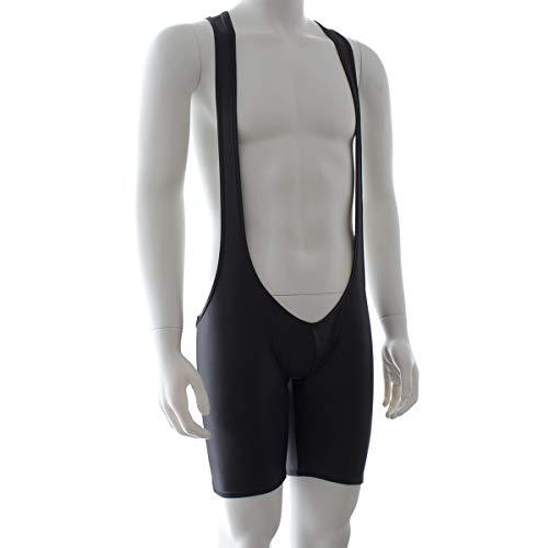 Mannen lakleer bekleed panty bib elastische broek sexy patent lederen broek shorts ZHQHYQHHX (Size : M)