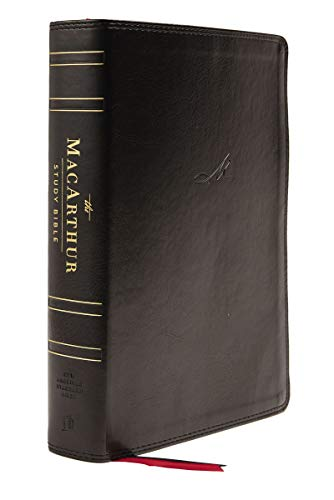NASB, MacArthur Study Bible, 2nd Edition, Leathersoft, Black, Thumb Indexed, Comfort Print: Unleashing God's Truth One Verse at a Time