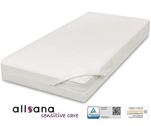 allsana Allergiker Matratzenbezug 180x200x24cm Allergie Bettwäsche Anti Milben Encasing Milbenschutz für Hausstauballergiker