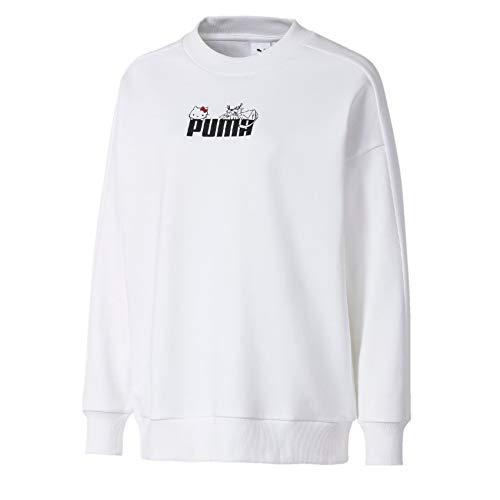PUMA Hello Kitty Damen Fitness Crew Sweatshirt weiß Gr. 40, weiß