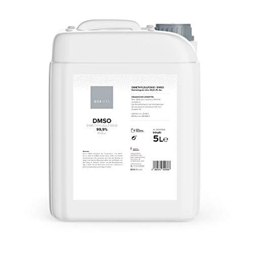 DMSO 99.9% Reinheit - pharmazeutisch rein nach Ph. Eur, Dimethylsulfoxid unverdünnt, made in Germany direkt vom Hersteller, ohne Zusatzstoffe (5 Liter)