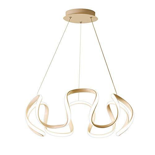 Moderne led-kroonluchter, dimbaar met verrekijker, creatieve ring-design-kroonluchter voor slaapkamer, woonkamer, keukeneiland, restaurant, tafel, trap, loft bar