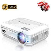 3200 Lumens Full HD 1080P Projector, LESHP Video Projector LED + LCD for Home Theater, 1280 x 1920 max Resolution Contrast 3000:1, Support 1080P / USB/VGA/SD/HDMI for Xbox/iPhone/Smartphone