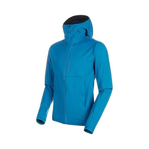 Mammut Herren Softshell-Jacke mit Kapuze Ultimat V Hooded, blau, XXL
