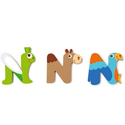 SCRATCH Alle andere mobiliteiten, decoratie en opslag voor kinderen SCRATCHScratch Deco: Wooden Letter 'N', 3 asstd, stijlen, 3 lijm included, on Card, meerkleurig (meer dan een)