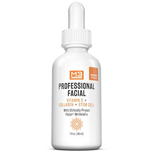 M3 Naturals Professional Facial Vitamin C Infused with Collagen Stem Cell and Patented Fision...