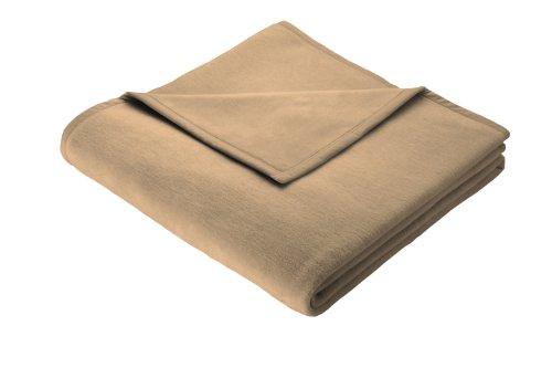 Biederlack Wohn- & Kuscheldecke, 60 prozent Baumwolle, Veloursband-Einfassung, 220 x 240 cm, Kamel, Orion Cotton, 240226