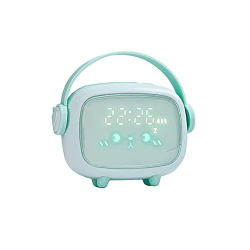 JIAYOUFC Reloj Despertador con función de repetición Reloj Despertador, luz Nocturna LED, Reloj electrónico Inteligente, Reloj Despertador Luminoso, Carga USB, luz Nocturna Creativa