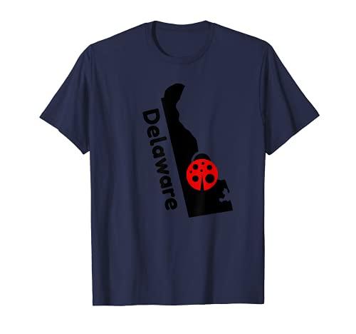 デラウェア てんとう虫 州 バグ プライド シルエット お土産 ギフト Tシャツ