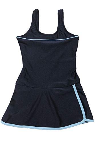 [グロウンチャーム] スクール水着 女子 ワンピース インナー付き UVカット skl3009swlop-w ブルー 130cm