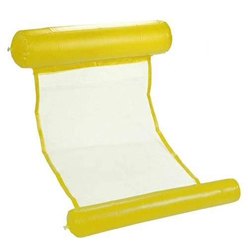 ZFLL Picknick klaptafel en stoelen Nieuwe Zomer Opblaasbare Drijvende Rij Zwembad Luchtmatrassen Strand Opvouwbare Zwembad Stoel Hangmat Water Sport Piscina 130 * 73CM Geel