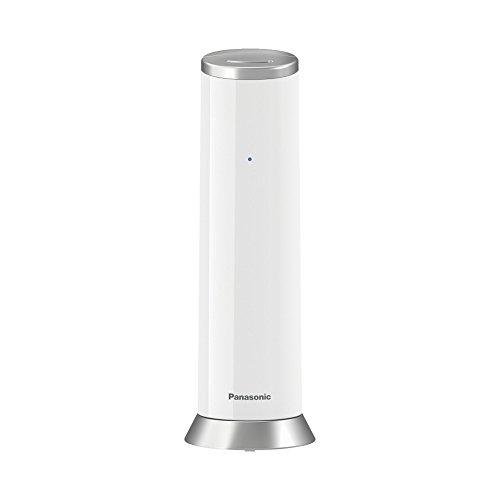 Panasonic KX-TGK220GW Design-Telefon mit Anrufbeantworter & Wecker, Haustelefon (schnurlos), HD-Telefonie, Weiß