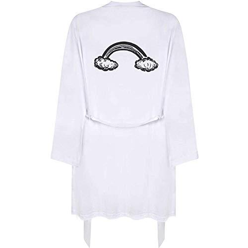 Azeeda Klein 'Regenbogen-Wolken' Erwachsene Dressing Robe / Kleid (RO00026656)