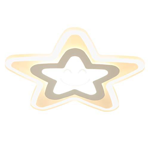 Lampe De Plafond Chambre D'enfant À Cinq Branches Étoile Ultra-mince Dessin Animé Plafonnier De Dessin Animé Garçon Et Fille Chambre Lampe Télécommande LED Lampe