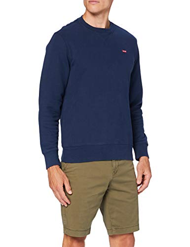 Levi\'s Herren Crew Sweatshirt, Dress Blues, S