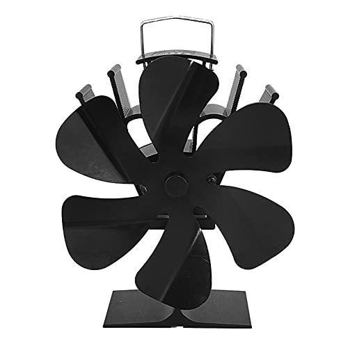 Ventilador Estufa Leña Accionado, 6 Aspas Ventilador Accionado por Calor Protección Medio Ambiente y Ahorro de Energía Ventilador Estufa Silencioso con Protección contra Sobrecalentamiento