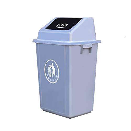 Garbage tribe 65L Bote de Basura con Tapa, Papelera del Hotel Corredor Escuela de la Oficina Comercial Puede Baño Parque Caja de Limpieza (Color : 65L)