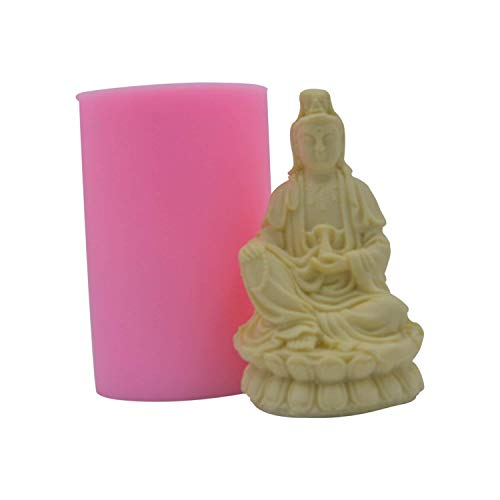 Monqui Buddha Guanyin Silicone Soap Molds Candle Molds Art Craft Molds Resin Molds
